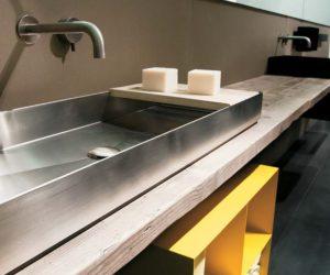 Un bagno in stile industriale
