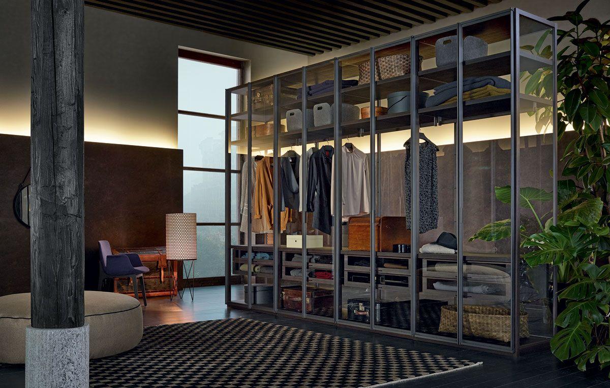 Ego la cabina armadio in vetro arredare con stile - Camera da letto stile industriale ...