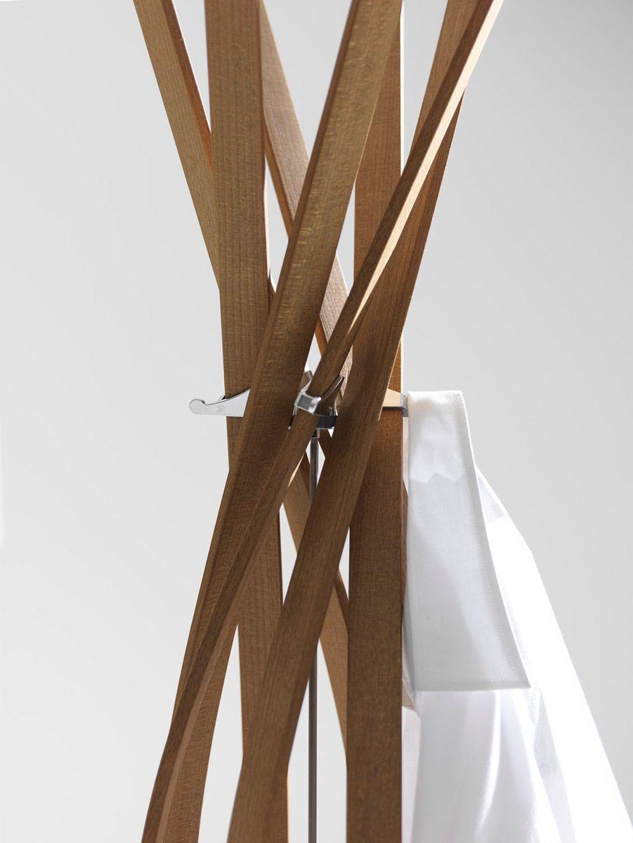 Appendiabidi twist di Horm un fiore di legno da esibire | Arredare ...