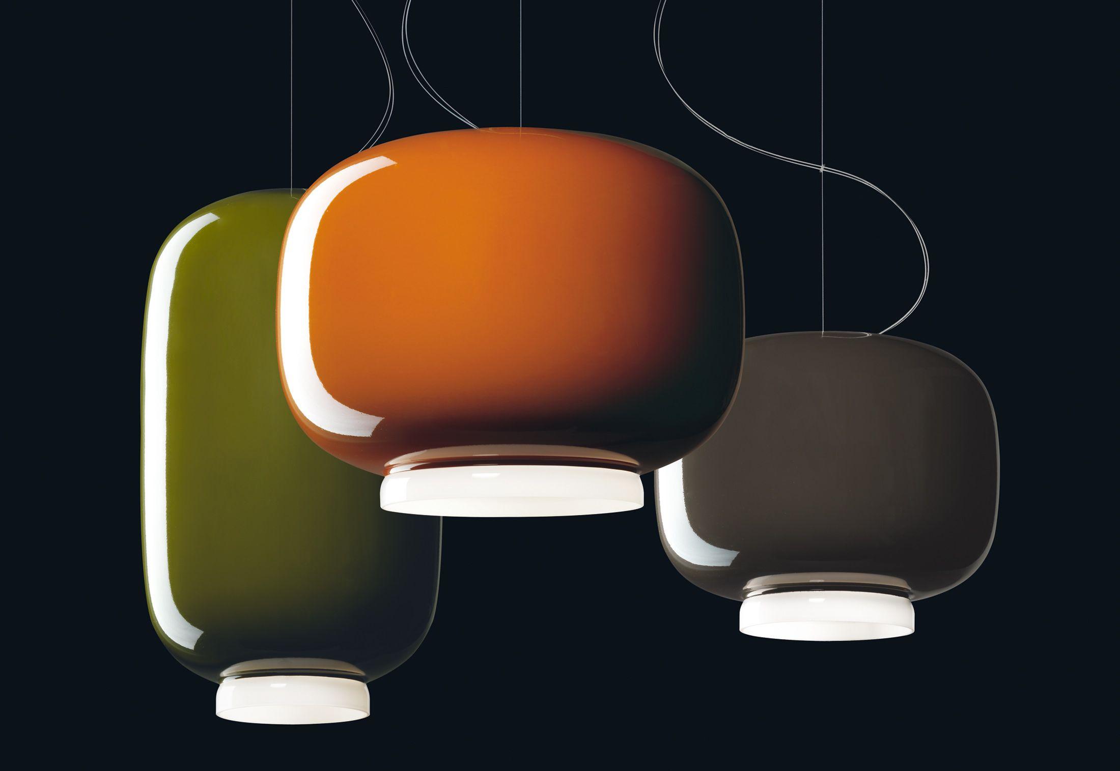 Lampade In Vetro Colorate : Lampada a sospensione in vetro colorato chouchin di foscarini