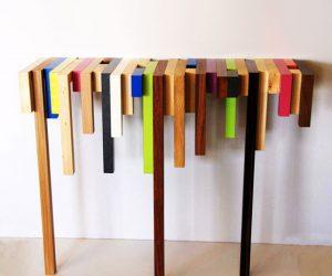 La consolle colorata da parete by Daha Mobilier