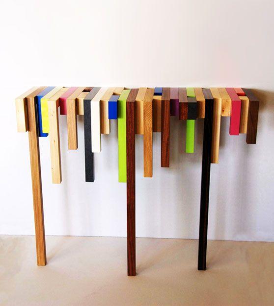La consolle colorata da parete by daha mobilier arredare - Mobili colorati design ...