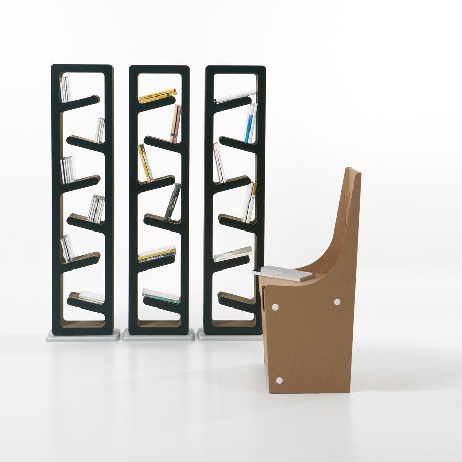 libreria-cartone-traffic-kubedesign | Arredare con stile