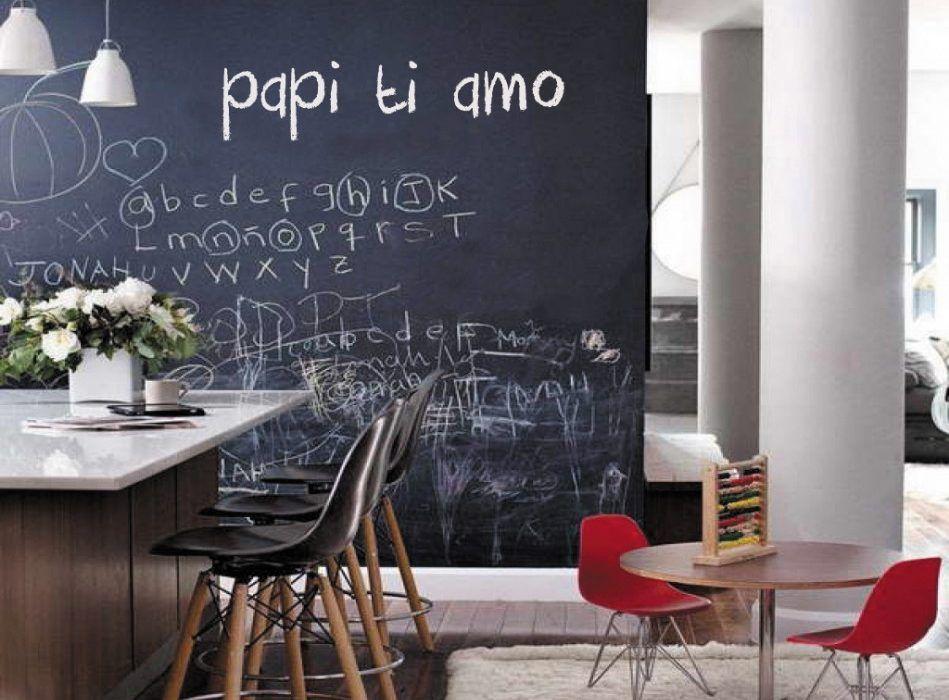Pareti e superfici scrivibili ad effetto lavagna for Vernice pareti