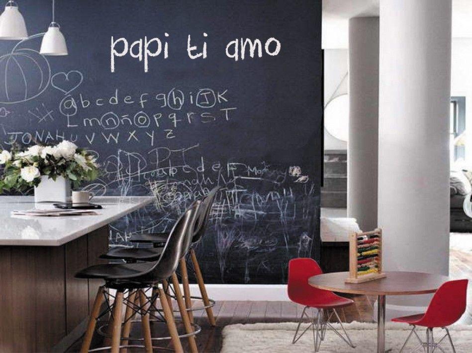 Pareti e superfici scrivibili ad effetto lavagna for Lo space senza pareti