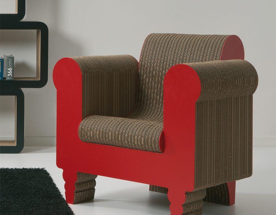 I mobili e complementi in cartone di kubedesign arredare for Mobili di design d occasione