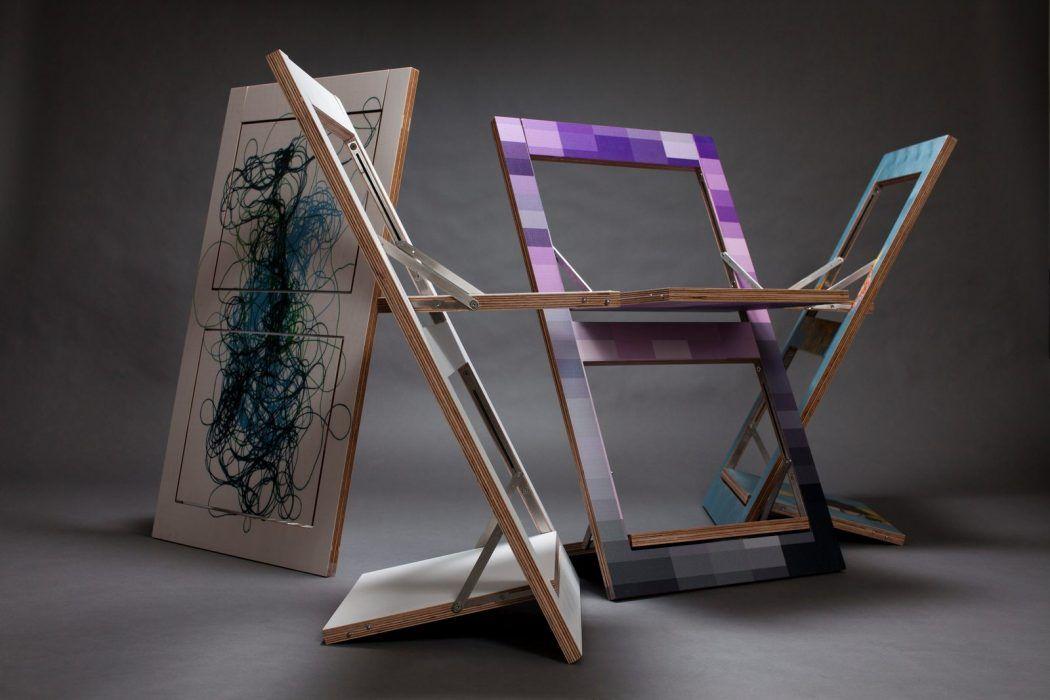 Fl pps la sedia pieghevole che diventa un quadro for Sedie richiudibili