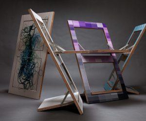 Fläpps: la sedia pieghevole che diventa un quadro