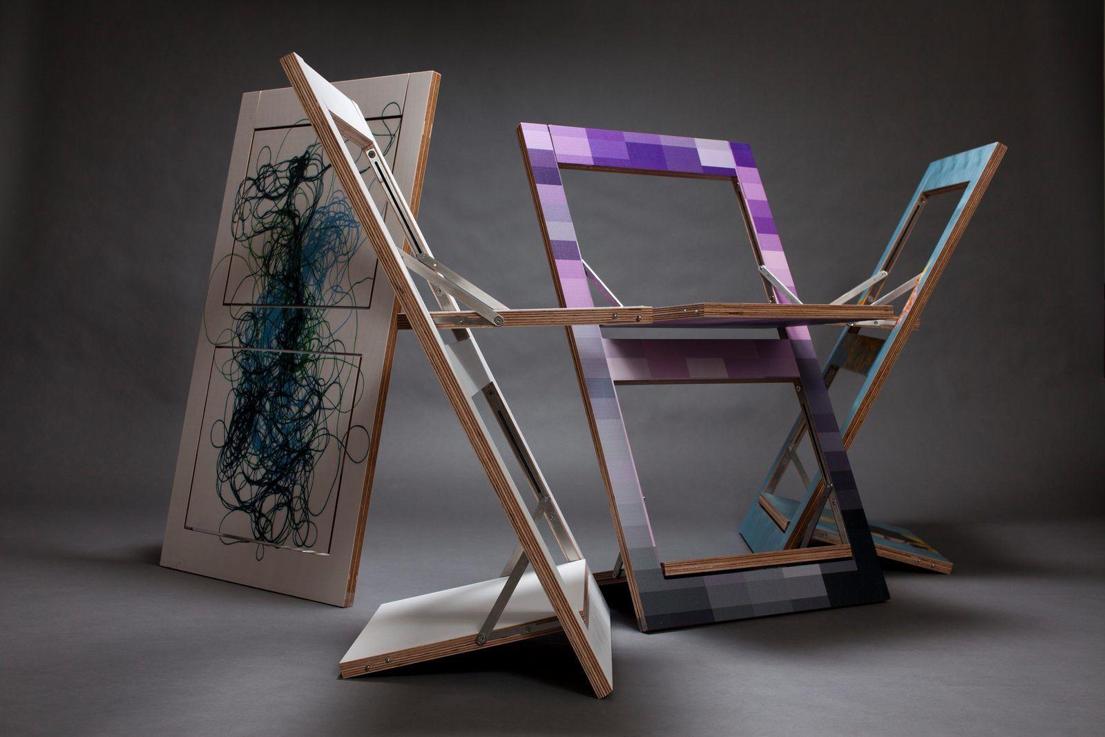 Fl pps la sedia pieghevole che diventa un quadro for La sedia nel design