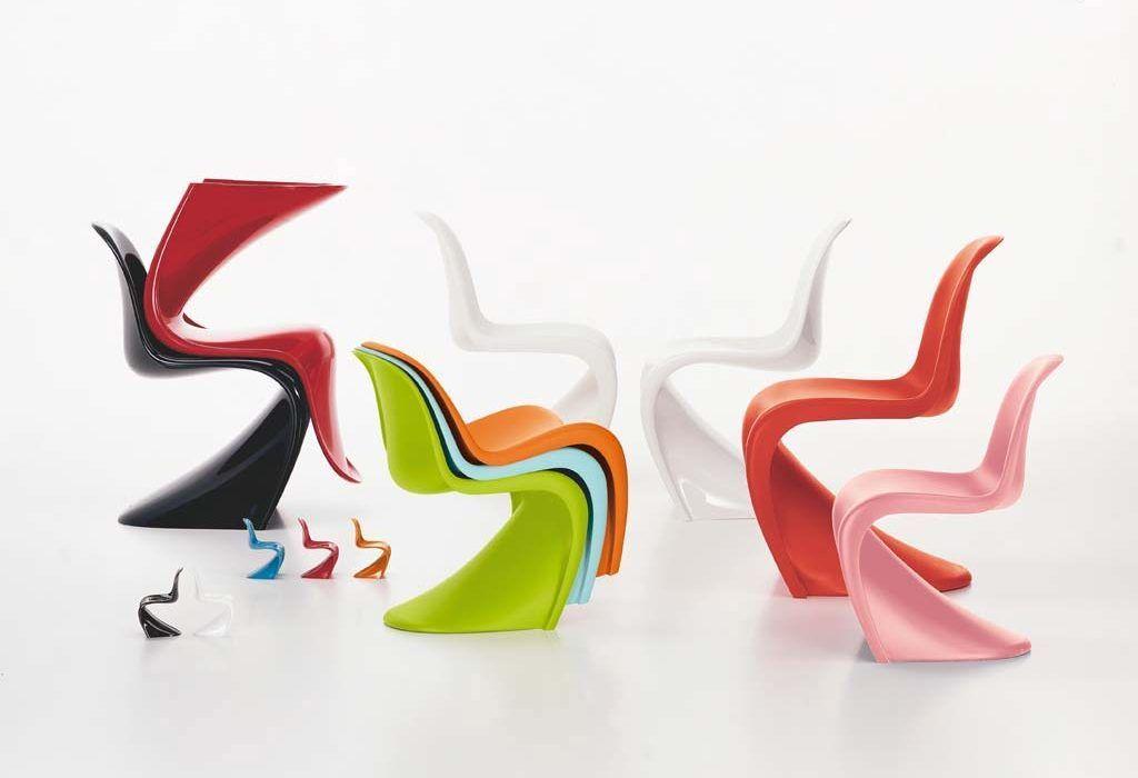 Sedia panton chair un icona del design prodotta da vitra