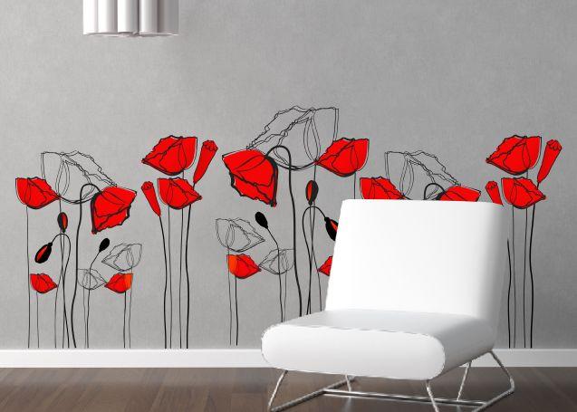 Le pareti di casa prendono vita con gli stickers murali - Decorazioni floreali per pareti ...