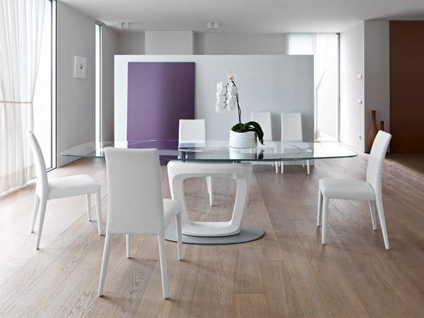 Orbital il tavolo allungabile di design by calligaris - Tavolo cristallo calligaris ...