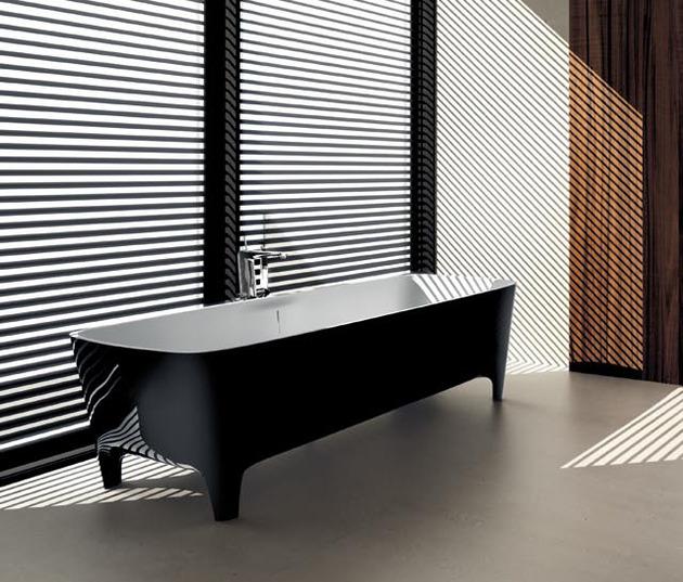 Accademia la vasca da bagno freestanding di teuco - Vasca da bagno nera ...