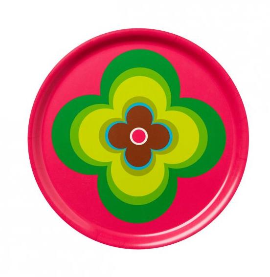Design Seventies Nostalgia Degli Anni Settanta : I vassoi colorati di aveva portano allegria in tavola