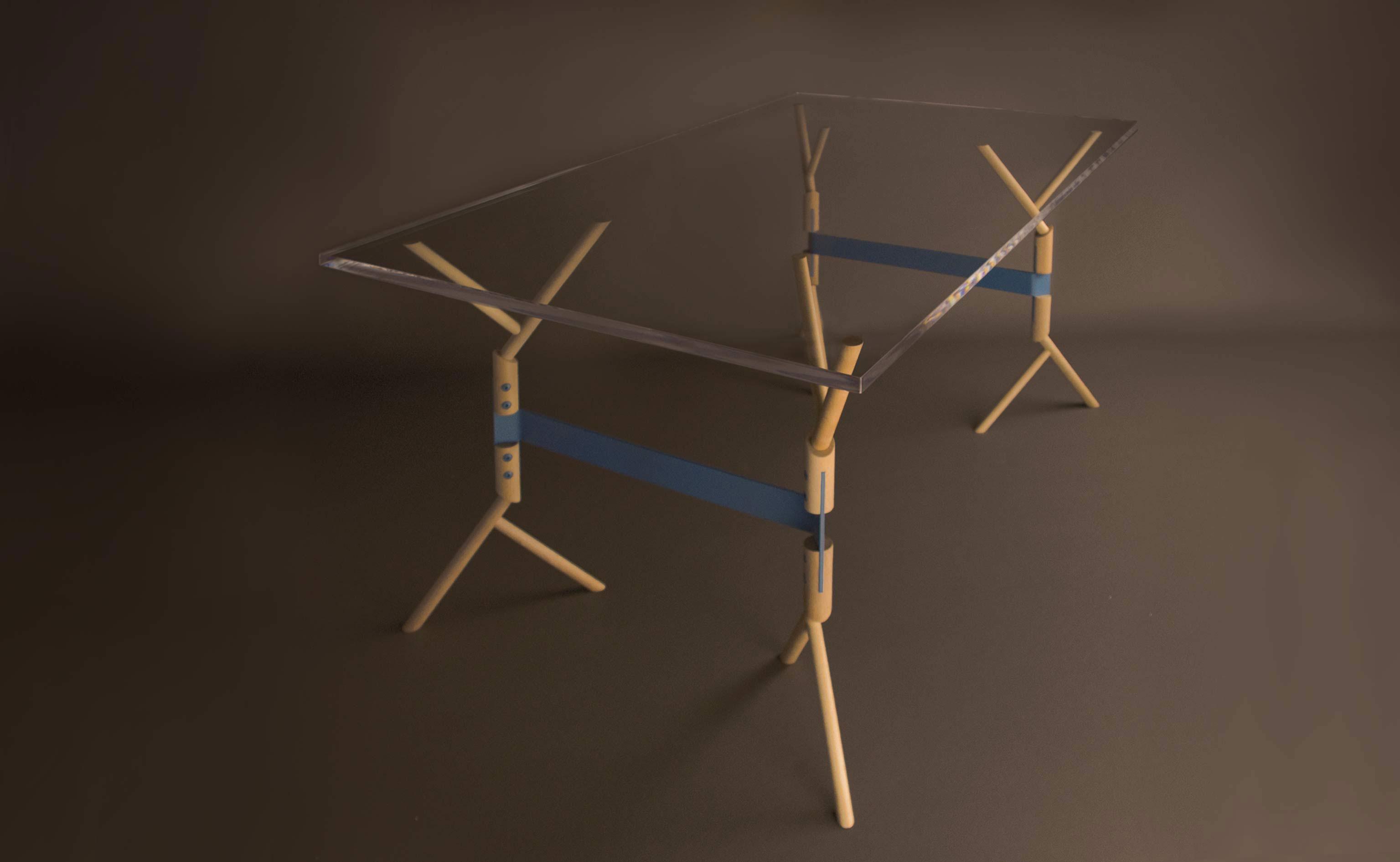 Gambe per scrivania : Cavalletti gambe e piedini personalizzati per tavoli e scrivanie
