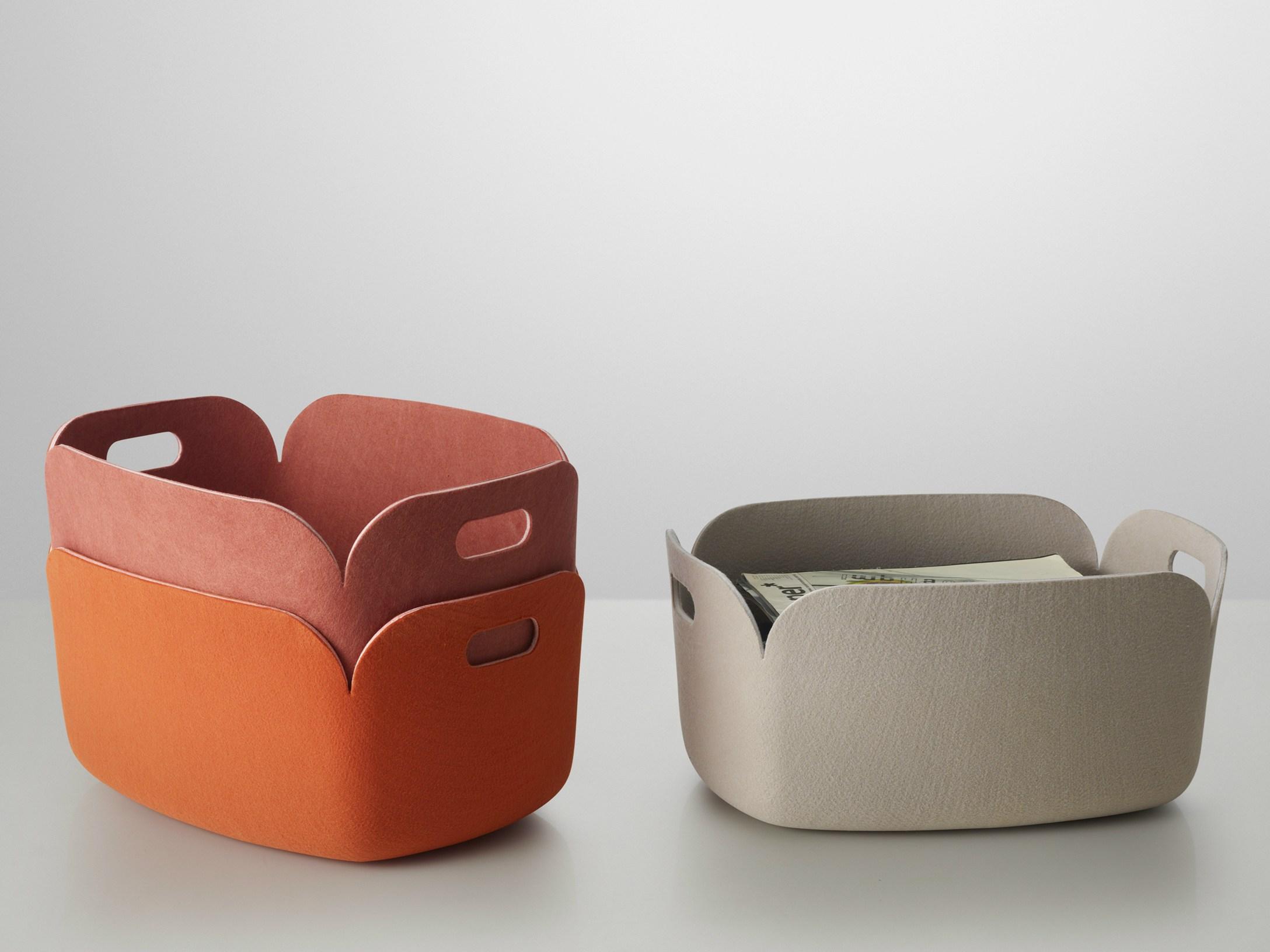 Restore il cesto contenitore per riviste e giocattoli for Oggetti arredo design