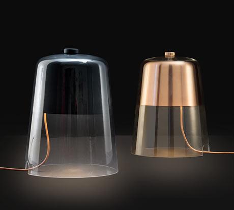 lampada tavolo vetro  Arredare con stile