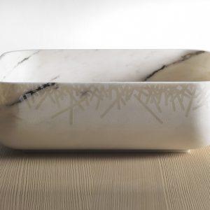 Kreoo presenta i nuovi lavabi design Nabhi con finitura filigrana