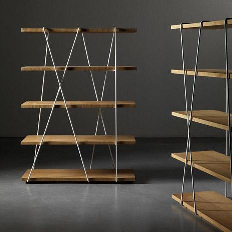 Matassa la libreria dal design essenziale di miniform for Generatore di layout della stanza