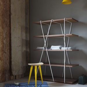 Matassa: la libreria dal design essenziale di miniform