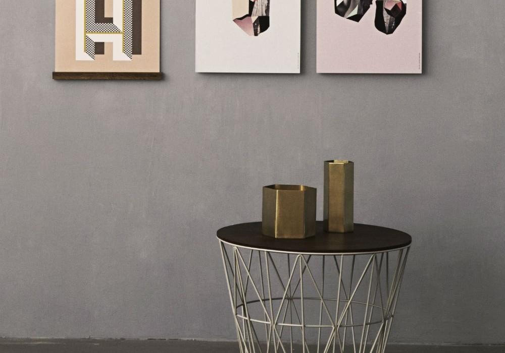 Tavolino coffee table contenitore e non solo con wire basket di