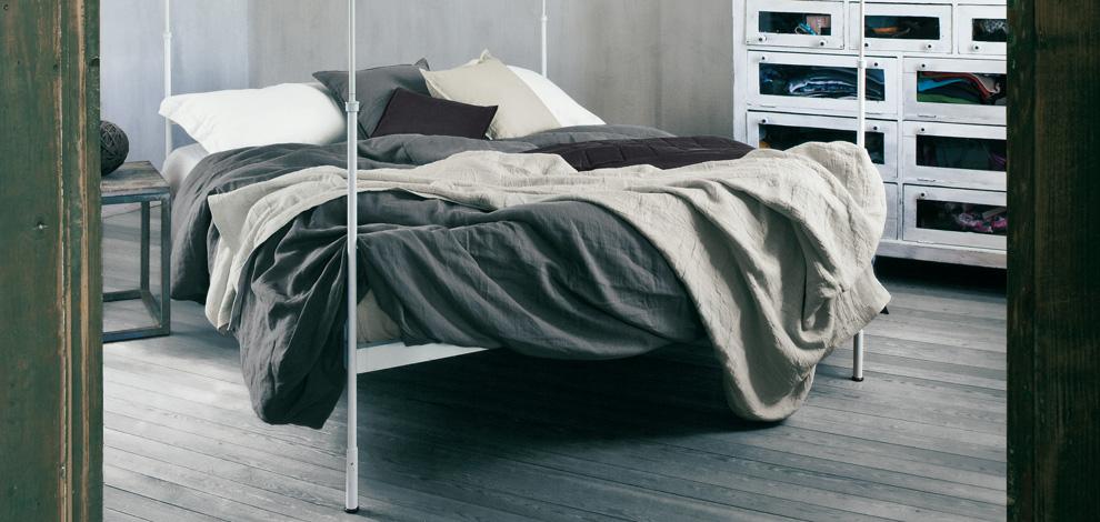 Parure in puro lino blow di fazzini per un letto 4 stagioni arredare con stile - Biancheria letto matrimoniale ...