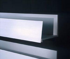 Le mensole bagno design minimale in alluminio di Boffi