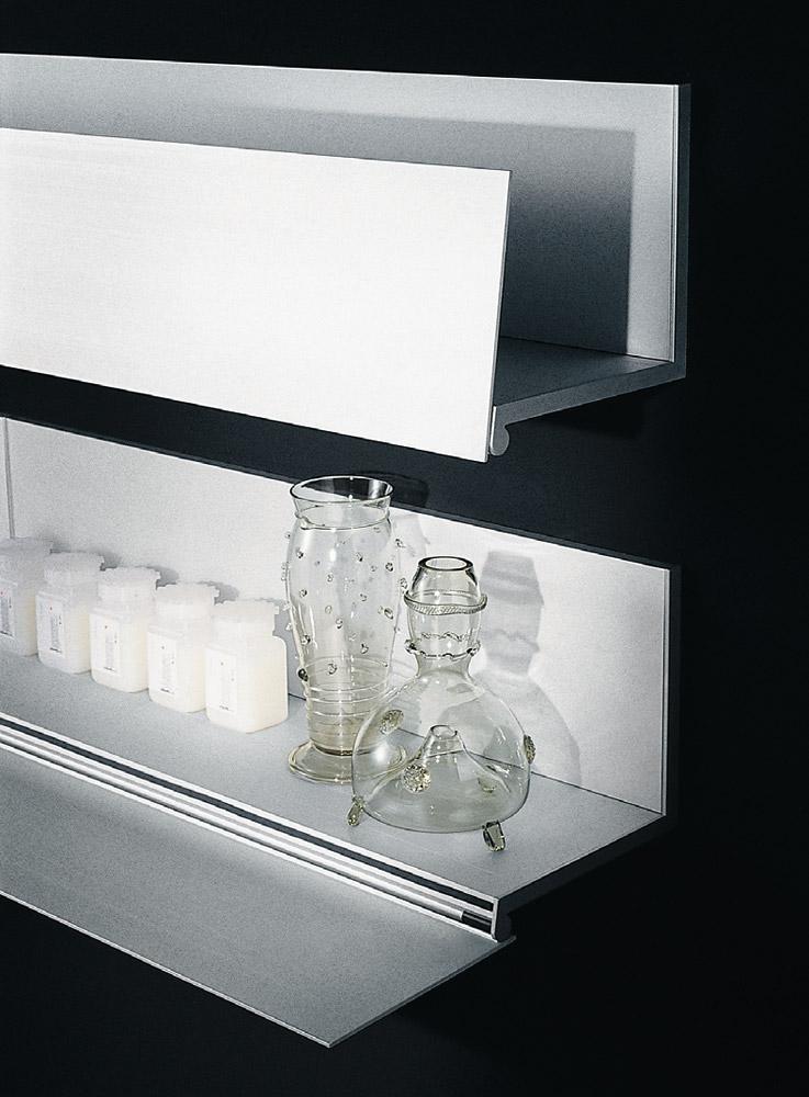 Le mensole bagno design minimale in alluminio di boffi - Mensole per bagno ...