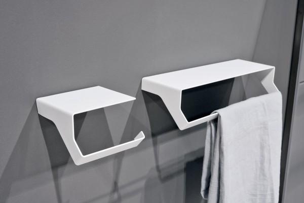 Un bagno in stile industriale design di interni - Portasalviette per bagno ...
