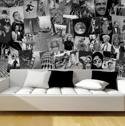 Una parete iconica con la carta da parati life icons for Arredare con carta da parati