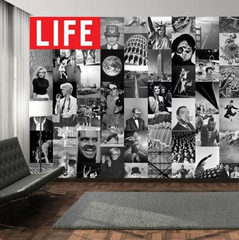 Una parete iconica con la carta da parati life icons for Arredare con la carta da parati