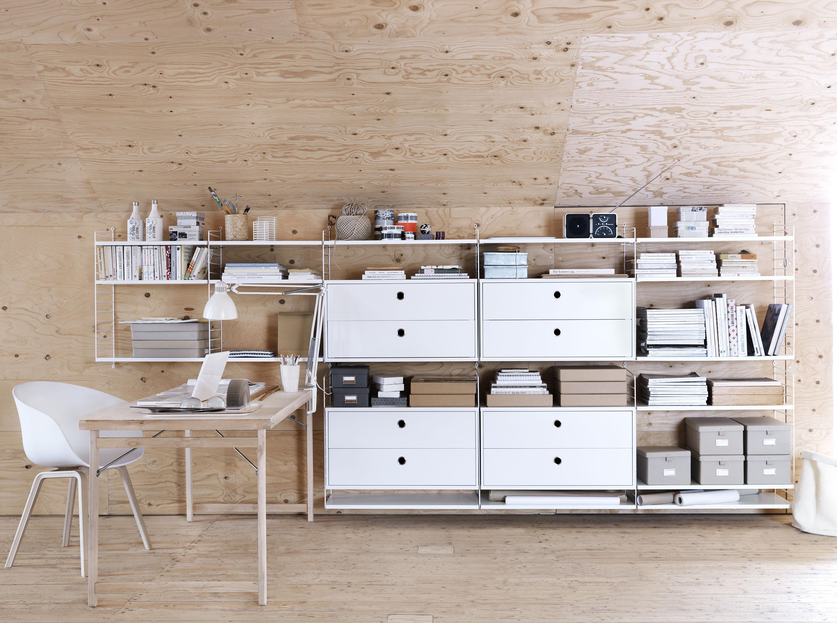 Libreria modulare string semplicemente funzionale for Arredare una parete con mensole
