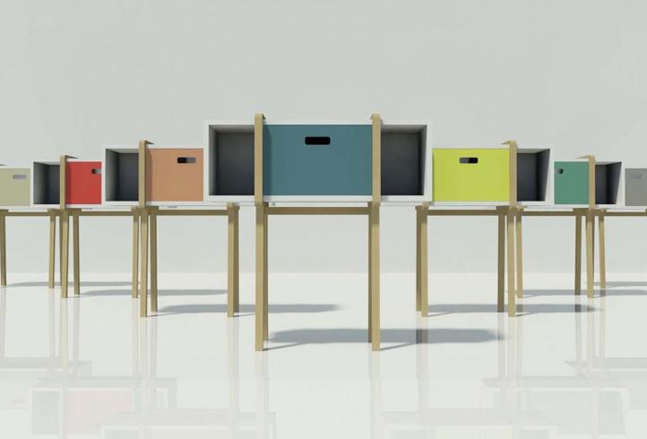 Tconsolle il mobile contenitore ecosostenibile di for Mobili contenitori design