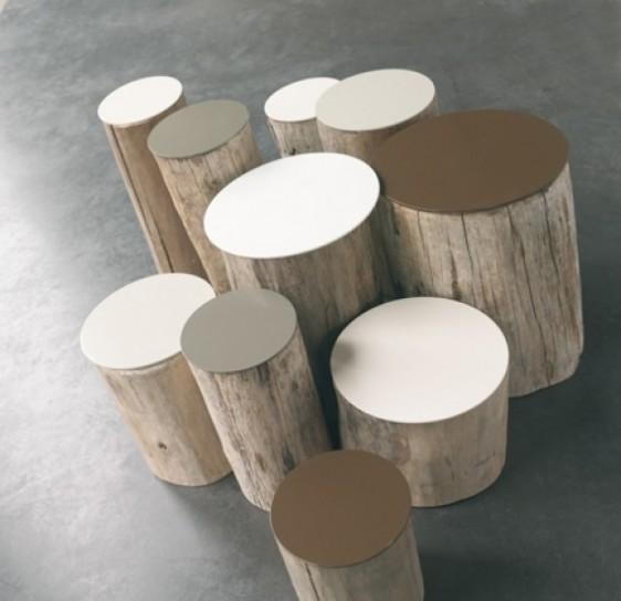Arredare casa con i tavolini in tronco di legno naturale - Tavolini da camera ...