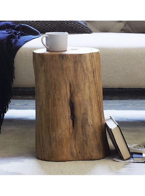 Arredare casa con i tavolini in tronco di legno naturale ...