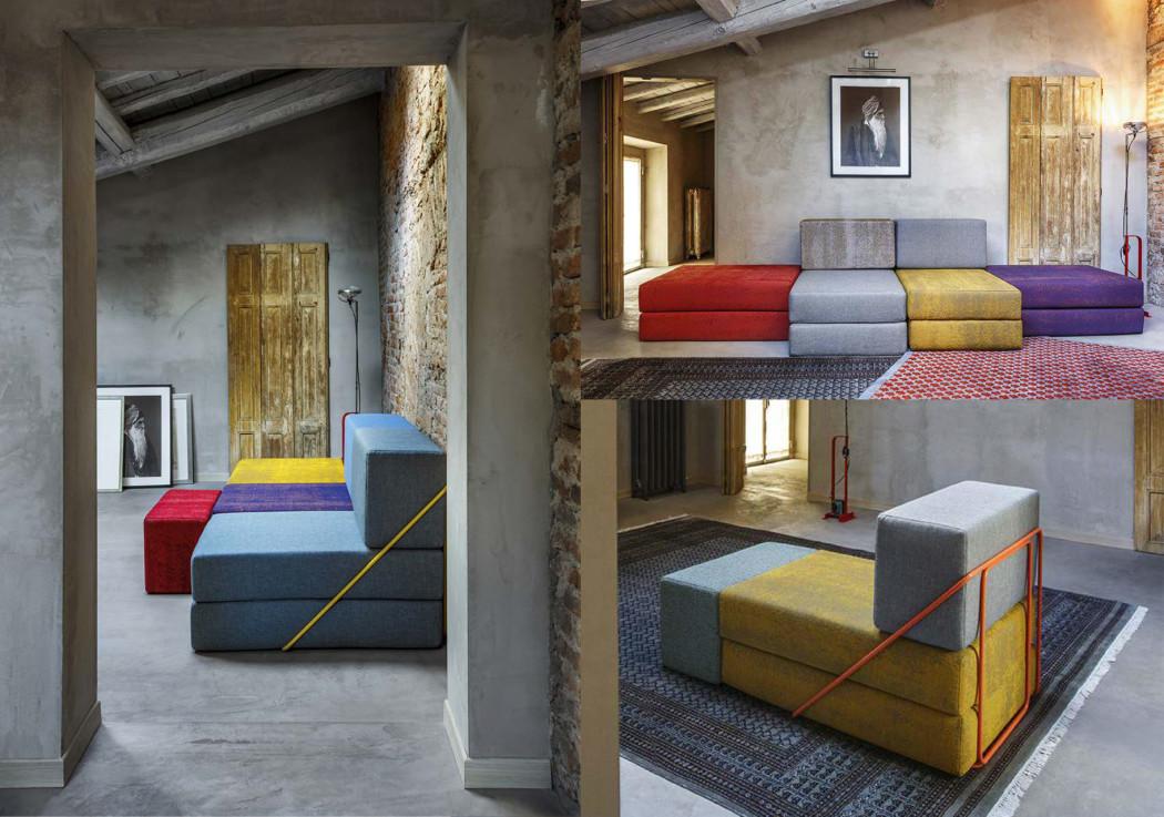 Rodolfo il divano dal design riconfigurabile di thesign for Divano componibile