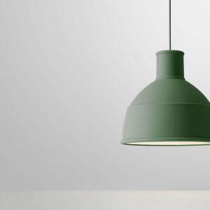 Lampada a sospensione in silicone Unfold by Muuto