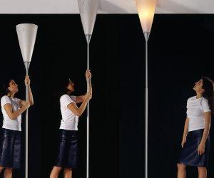 La Lampada da terra Chichibio di Luceplan diventa una plafoniera