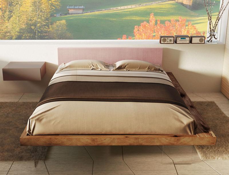 Letto frame il design nella stanza da letto secondo il - Letto legno design ...