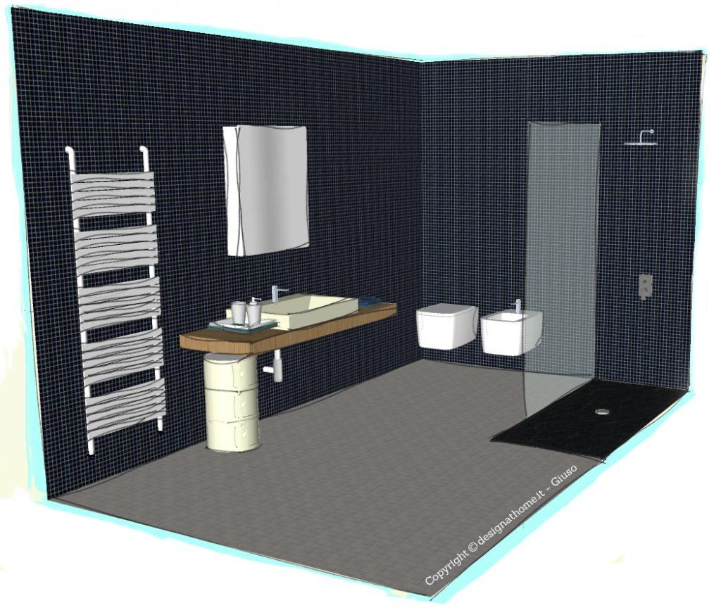 Realizzare un bagno moderno e funzionale sotto i 10 mq arredare con stile - Progetto bagno 2 mq ...