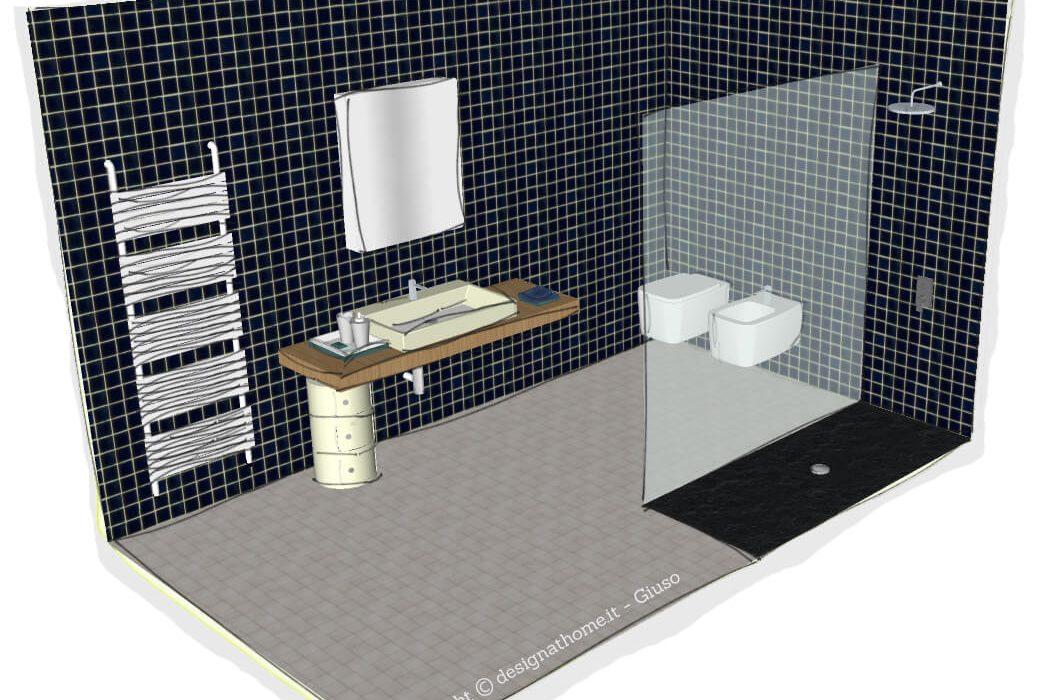 Realizzare un bagno moderno e funzionale sotto i 10 mq - Come realizzare un bagno ...