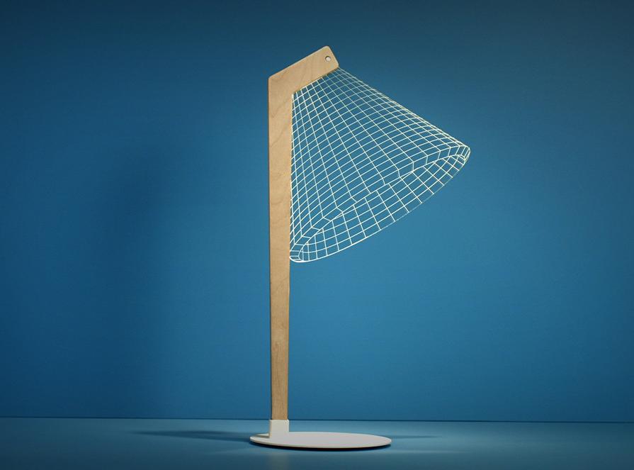 La lampada da tavolo con effetto 3d di studio cheha for Tavolo da studio