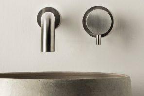 Dimensione74, la rubinetteria MINA in acciao inox declinata al maschile