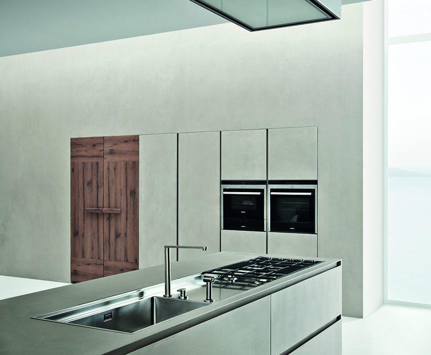 Cucine Zamperi Line K: urban look con resina di cemento | Arredare ...