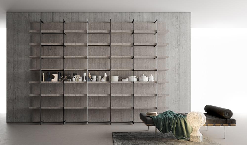 Libreria Metallo E Vetro.Libreria Metallo Design Casa