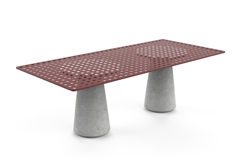 Tavolo outdoor in pietra di vicenza arredare con stile