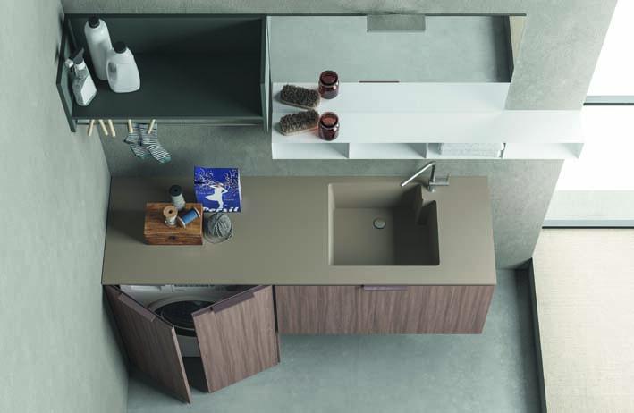 Bagno Con Zona Lavanderia : Dieci nuove composizioni per drop la lavanderia di design made in